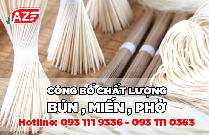 Công bố chất lượng Bún Miến Phở - Hotline: 093 111 9336
